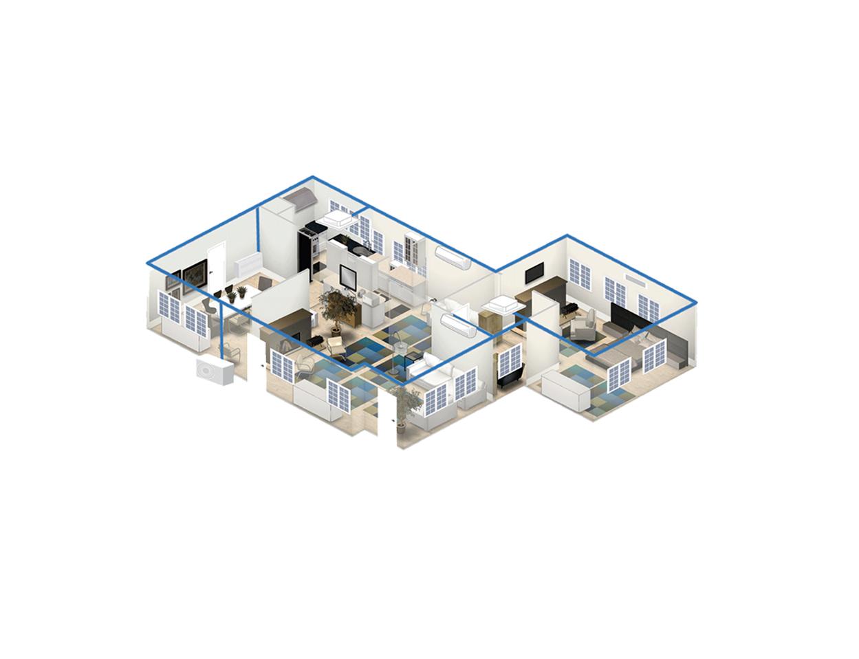 Cache Unité Extérieure Climatisation climatic installation climatisation réversible ou chauffage